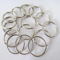 50x Split Keyring 25mm Key Ring Chain Loop Pocket Photo Clasps Connectors