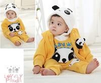 New Cotton Baby Clothing Set Panda Design Baby Hoodies Kids Winter Warm Down Coat Baby Boys Girls Clothing Set Free Shipping