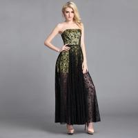 Free shipping 2014 summer new women sexy lace halter dress Slim Bra evening dress A-Line dress