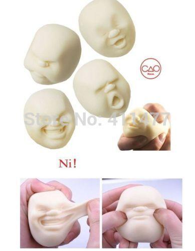 Free Shipping Gift Anti Stress Face Ball Anti Stress Scented Caomaru Toy Geek Gadget, 4pcs/Set(China (Mainland))