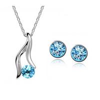 Wholesale fashion Don't fade beautiful women Beautiful rain pendant necklace/earring jewelry set