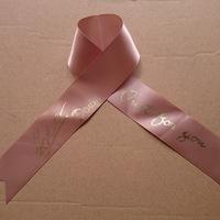 Customized  (500yards/lot)  satin plain golden Printed Ribbon Garment accessories webbing Free Shipping