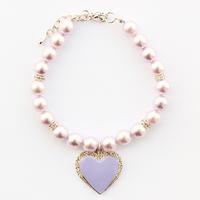 Armi store Handmade Pet Dog Cat Purple Rhinestone Heart Pendant Necklace 51010 Puppy Boutique Wholesale