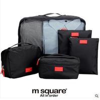 ( 5 pieces / lot ) travel set wash bag set trolley luggage bag clothing storage organize bags
