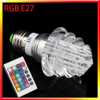 2014 new style 5pcs/lot Tree RGB Led lights E27 Bulb lamp With remote control For home/party/KTV/birthday Christmas decoration