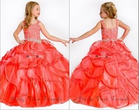 New Hot PInk Spaghetti Strap Ruched Sequins Mint Green Ball Gowns Floor-Length Party Baby Dress Wedding