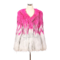 2014 Luxurious Genuine Natural Knitted Raccoon Fur Coat Jacket Autumn Winter Women Fur Outerwear Coats Clothing QD30403