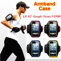 Google Nexus 5 E980 Waterproof Running Sports Arm Hand Case Arm Bag Holder Case Pouch For LG G3 G2 D802 D801 F320 F340L Cases
