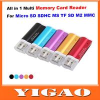 USB 2.0 все в 1 multi карт считыватель sd/xd/mmc/ms/cf/sdhc падение multi кард-ридер