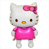 2014 NEW! big 116X68 CM 2pcs/lot Walking Hello Kitty Baby toys Birthday&Wedding Party Decoration Foil&Helium Balloon