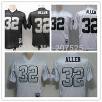 Oakland 32 Marcus Allen Throwback Rugby Jersey, Retro American Football Jerseys Men Sportswear Allen Rugby Shirts
