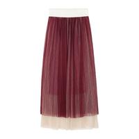 2014 Summer Women's Fashion Chiffon Elastic Pleated Gauze Small Fresh Expansion Bottom Elegant Design Long  A-Line Skirt  D0890#