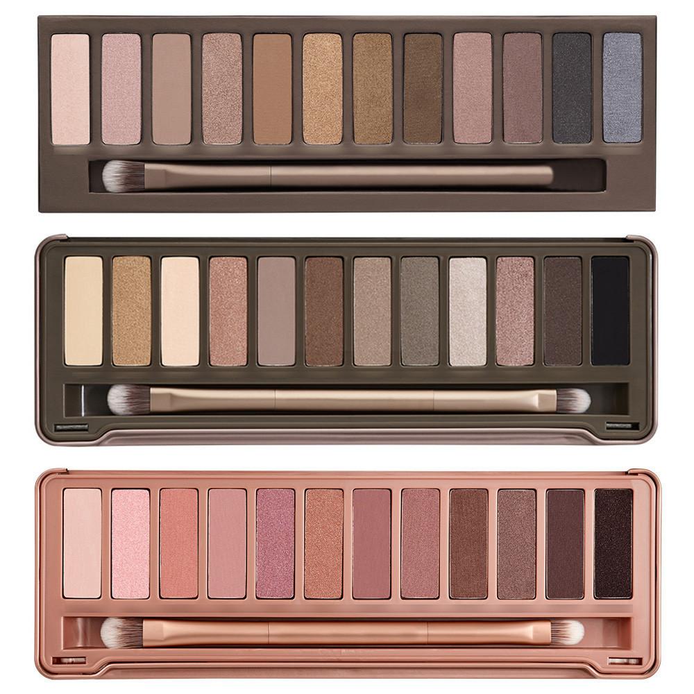 NAKE 3 pcs 12 colors Brand Professional Makeup Eyeshadow naked Palette 1 2 3, NK cosmetic eye shadow case. 3 pcs/ lot(China (Mainland))