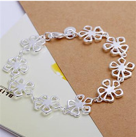 Free shipping wholesale 925 sterling silver jewelry All the flowers Bracelet fashion High-quality bracelet  H169