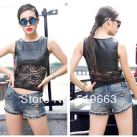2014 summer new arrival women's fasion denim shorts shorts jeans female girls sexy holes washed holes Rivet