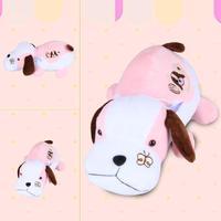 One Piece 27cm Pink Fun Crouching Papa Dog Pug Toys Stuffed Animals Plush Dolls Kids Girls Cartoon Gift wholesale retails 50-08
