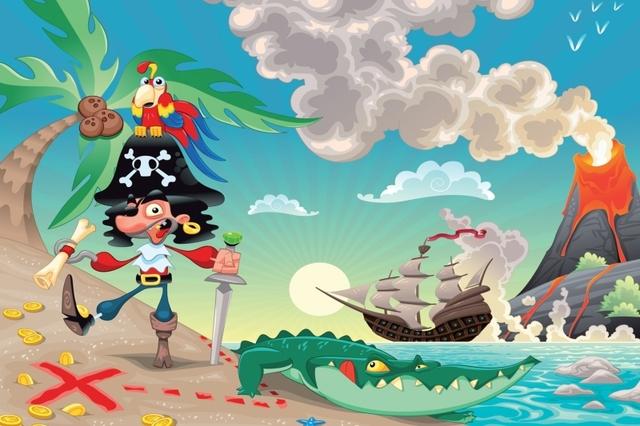 Acheter bande dessin e murale pirate for Les differents types de peintures murales