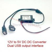 DC/DC Converter, Voltage regulator, dual output switching power supply 5V 12V, dual USB, 12V DC (8-22V ) step down to 5V