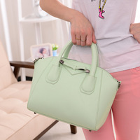 Women's bags 2014 women's handbag candy color bow handbag one shoulder cross-body smiley bag