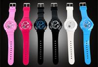 New 2014 Brand Designer Girl's Jelly Silicone LED Digital Sport Baby hiking waterproof  g ift Wrist Dress Watch