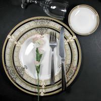 10 8 inches plain plate western bone china plate