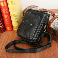 Multifunctional genuine leather male small shoulder bag messenger bag strap waist pack handbag cowhide man bag