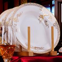 Jingdezhen ceramic plate 8 dinnerware set swan lake 8 inches plate