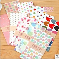 Free Shipping Korea stationery vintage small fresh candy color romantic envelope letter pad 1 set=5 pieces