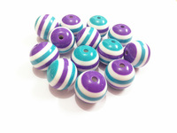 Newest !  20mm-100pcs/lot  Purple/White/Blue   Resin Stripe Beads ,Chunky Beads For  Chunky Kids Necklace Making !