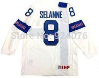Cheap TEEMU SELANNE #8 FINLAND JERSEY 2014 ANAHEIM DUCKS Jerseys White