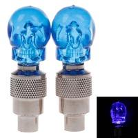 Free Shipping   Skull valve light gas light Automobile decorative light night lamp by bike blu-ray