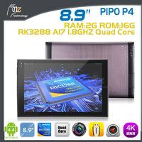 "2014 New Arrival PiPO P4 android 4.4 Tablet PC 8.9"" Retina 1920x1200pixels RK3288 1.8GHz 2GB RAM 16GB 4K Video HDMI GPS 6600mAH"