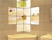 Home Decoration mirror square decorative wall sticker 10x10CM square combination XL size 3D DIY acrylic sticker