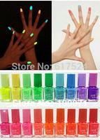10pcs New Special Hot Sale Popular 20 Color 7ml Nail Polish Fluorescent  Luminous Neon Nail Art Polish Glow in Dark Nail Varnish