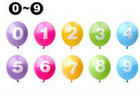 Latex balloon digital 0 - 9 wedding balloon birthday party for decoration