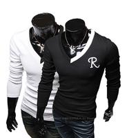 2014 New Male Chinese Clothes Fashion Tees,Men T Shirt,Mens long Sleeve T-shirts Brand Men,