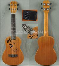 Frete grátis Aloha 26 polegadas ukulele Tenor, guitarras acústicas , Hawaii guitarra + nylon saco , guitarras de mogno , china guitrars(China (Mainland))