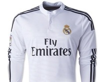 FREE SHIPPING&Top AAA+quality 14-15 Real Madrid &  Real Madrid 2014& #7 Ronaldo 11#Bale Real Madrid 14-15 home long sleeve