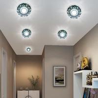 3w led crystal spot light home chandeliers AC85-265V light fixtures white warm white led lamp for living room abajur