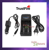Free shipping TrustFire TR-006 Multifunctional Battery Charger for 18650 26650 26670 Rechargeable Battery + Car Charger