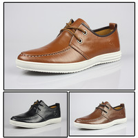 Handmade head layer  genuine  leather Business casual shoes hot-selling skateboarding shoes Driving shoes slippers Plus 38-44
