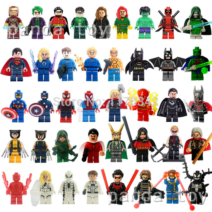 Decool figures marvel super hero 41pcs/lot the avengers figurines blocs de construction jouets modèle compatible avec lego. ensembles