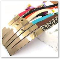 2014 Fashion cheap Chic Metallic Bling Gold Mirror Skinny Wide Obi Belt Corset Waist belt
