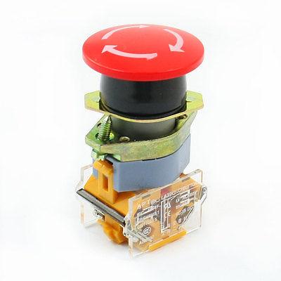 660 В 10A DPST дохлоп красный гриб глава аварийный переключатель 10a 660 в 4 терминал фиксации 2 позиция nc dpst поворотный переключатель ваттной 2 ключ