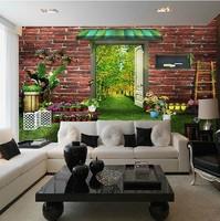 Rustic romantic wallpaper bedroom wallpaper living room background wall mural three dimensional wallpaper