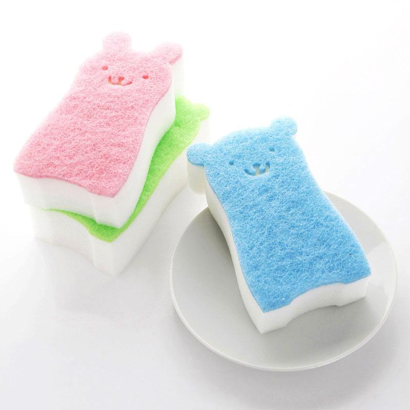 Teddy Bear family home creative sponge to wipe clean cloth washing brush K1150 Xiguo(China (Mainland))