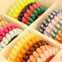 E6070 Queer jewelry wholesale Korea Hot telephone line phone cord hair circle hair rope hair accessories