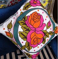 High-end European-style three-dimensional embroidery pillow cushion sofa cushion covers pillow lumbar pillow  / WDX663