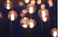 Classic vintage crystal meteor shower bar light dining room pendant light