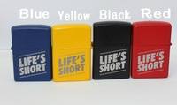 Logo free , Customized logo on the color  metal oil lighter    , Accept color mixed ,brand  customizable  logo accept